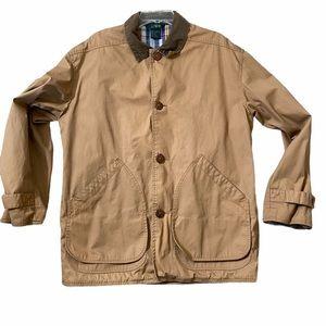 J. Crew | Mens Barn Field Khaki Plaid Lined Jacket